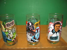 Star Wars/Empire Strikes Back 1980 Burger King Coco-Cola Collector Glass Lot (3)