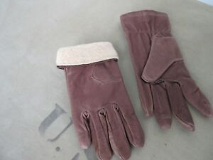 Army Women Winter Gloves Leather Vintage Nose Art Rockabilly 19