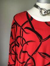 La bass Tunika Kleid Shirt  Lagenlook Gr.2, XL, 48-50 rot gemustert
