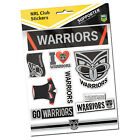 Official NRL New Zealand Warriors Deluxe Club Stickers Sticker Sheet Pack