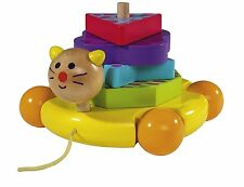 Eichhorn PULL ALONG WOODEN TOY with Shapes Great Gift - New in Box