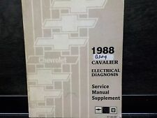 1988 CHEVROLET CAVALIER ELECTRICAL DIAGNOSIS SERVICE MANUAL SUPPLEMENT (G304)