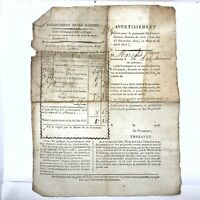 1800's French Manuscript Document Legal Work Paper Handwritten & Print Old Doc