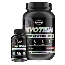 Bodybuilding Supplements Combo Kit - Myotein Protein 2LBS (Choc) and Testosyn