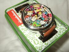 Adult Nickelodeon Rocko's Rug Rats Reptar Ren Stimpy Real Monsters Watch Tin