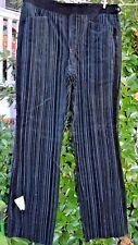 "Vintage After Six Formals Black On Black Velvet Stripe Tuxedo Pants 39"" R Nwt"