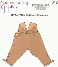 Schnittmuster RH 812: 1770s-1810s Fall-Front Breeches