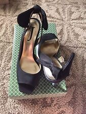 Black Silk Satin J Renee Evening Shoes