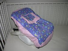 NEW INFANT CAR SEAT CARRIER COVER M/W TINKERBELL FABRIC