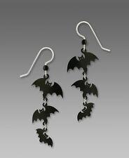 Sienna Sky Triple BATS EARRINGS STERLING Silver Halloween Fall Dangle - Boxed