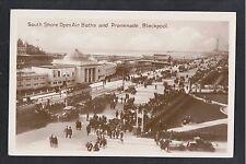 L@@K  South Shore Open Air Baths and Promenade Blackpool 1920's? RP Postcard
