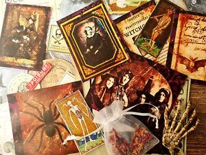 50 Vintage Book of Shadow Witch Wicca Ephemera Halloween Gift Card Scrapbook