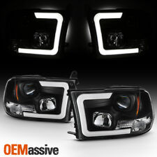 Fits Black 09-18 Ram 1500 10-18 2500/3500 Halogen Model Projector Headlights