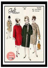 1960s Winter Coat Vintage Sewing Pattern - Copy