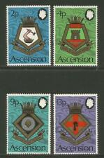 Ascension 1973 Naval Arms--Attractive Ship/Heraldry Topical (166-69) MH