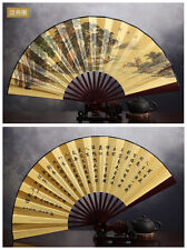 27CM Nice Chinese Traditional Handheld Fold Fabric Fan with Yachting