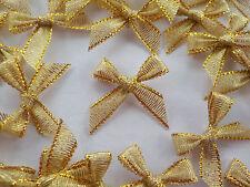 """100 Arcos de la cinta Metálico! 6mm-adorno de moño Oro Festivo - 20MM/0.75"""""""