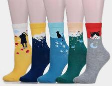 Cute Loveable Characterful Cartoon Cat Ankle Socks 5 Designs Harajuku kawaii