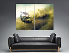 Audi Quattro Dirt Rally Wall Art Poster Great format A0 Wide Print
