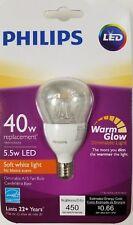 PHILIPS LED 40W watt A15 Fan Candelabra Base Soft White 27K E12 light bulb clear