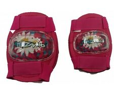 Girls Elbow and Knee Pads pink Velcro cycle bike kids protective
