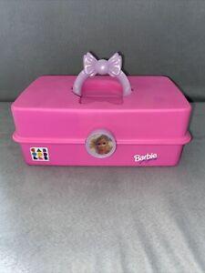Vintage 1990s Barbie Caboodles Pink Purple Makeup Carrying Case 2805