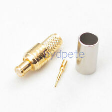 MCX male plug straight Connector Coaxial crimp for H155 RG58 RG142 LMR195 Cable
