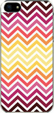 iPhone 5 Rainbow Multi Chevron Designed Sticker on Hard Case Cover