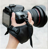 PU Leather DSLR SLR Camera Hand Grip Wrist Strap For Canon Nikon Sony Leica New