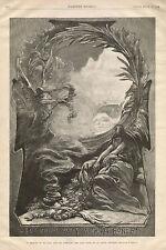 Exploration Death De Long & Comrades Remembered Angel 1884 Antique Art Print