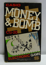GAME & WATCH CASIO CG-20 MONEY & BOMB BOXED JAPAN RARE