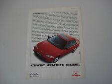 advertising Pubblicità 1993 HONDA CIVIC QUATTRO PORTE