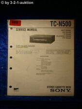 Sony service manual TC n500 cassette deck (#0889)