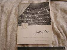 Night of Stars Metropolitan Opera House Monday September 25th, 1950