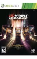 Midway Arcade Origins Xbox 360 Game Rare Collectible 30 Classic Kids Games