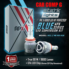 Stark 90W 9600LM LED 8000K Blue Chip Fog Light Conversion Kit Bulbs - H11 (3)