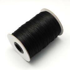 5 metre black wax cotton cord size 2mm