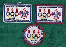 C725 OA BSA Scouts 2001 NATIONAL JAMBOREE OLYMPIC AWARENESS STAFF SET LOT