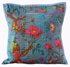 Handmade 16X16 Bird Cotton Hippie Bohemian Indian Sofa Cushion Cover Home decor