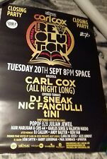 carl cox space closing party poster ibiza 2016