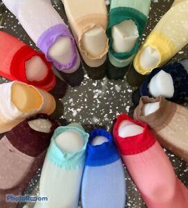 15x Pairs  Ladies Ultra Thin Nylon Stocking Multi Coloured Lace Sheer Sock