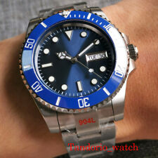 Japan NH36A Automatic Mens Watch Sapphire Glass Blue Dial 904L Brushed Bracelet