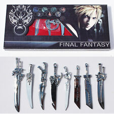 8pcs/set Anime Final Fantasy Sword Metal Weapons Toys With Box action figure