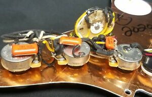 Electric Guitar lot of 5 harnesses and 1 loaded VM Squier Pickguard