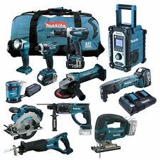 Makita 18V Combo Kit MEGA XXL Elektro Werkzeug inkl. 3x 5.0Ah BL1850 und DC18RD