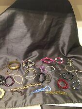 Job Lot 29 Mixed Used Costume Jewellery BRACELETS  Resale Car Boot Crafts 17/C