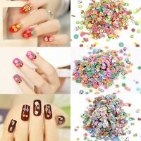 1000Pcs DIY Flower Fruit Fimo Rod Polymer Clay Nail Art Sticker Decoration 3D
