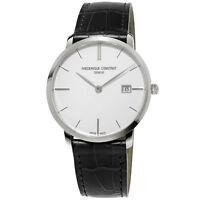 Frederique Constant Men's Slimline Quartz Silver Dial 38mm Watch FC-220S5S6