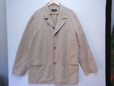 MEN'S MEXX TAUPE TAN LINEN / COTTON COAT JACKET SIZE 50 NEW