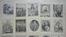 TRES ANCIEN ET RARE LOT DE 62 COUVERTURE PROTEGE CAHIER VERS 1870 !!!